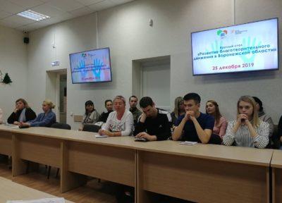 круглый стол «Развитие благотворительного движения в Воронежской области»